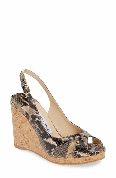 263ad46e56 Jimmy Choo Amely Slingback Wedge Sandal (Women)
