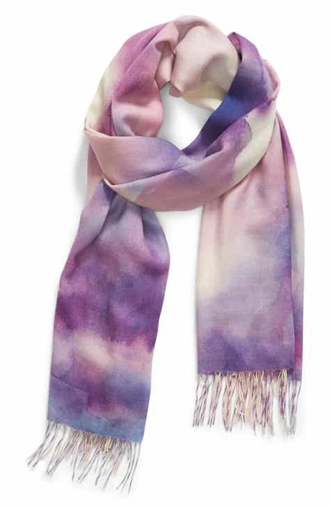 7c1d8fc12 Nordstrom Tissue Print Wool & Cashmere Wrap Scarf