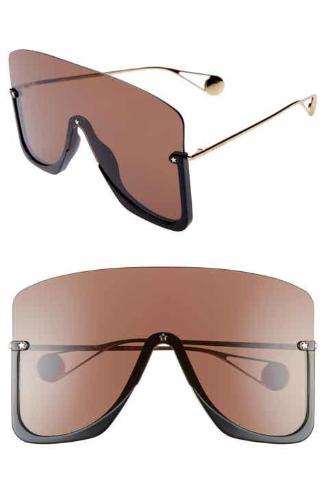 0257fc0b85bfd Gucci 99mm Oversize Shield Sunglasses