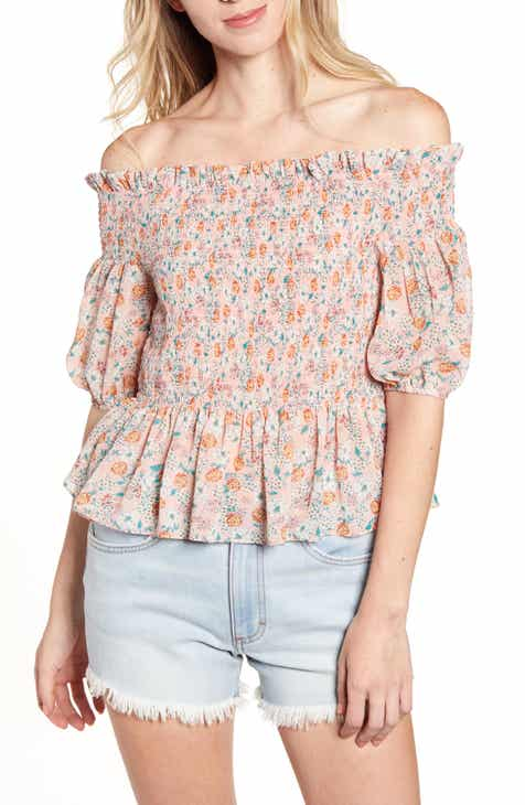 fc18ce4eb04 Socialite Smocked Off the Shoulder Top