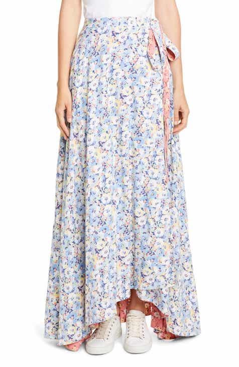 4d105adf38 Polo Ralph Lauren Lye Reversible Wrap Maxi Skirt