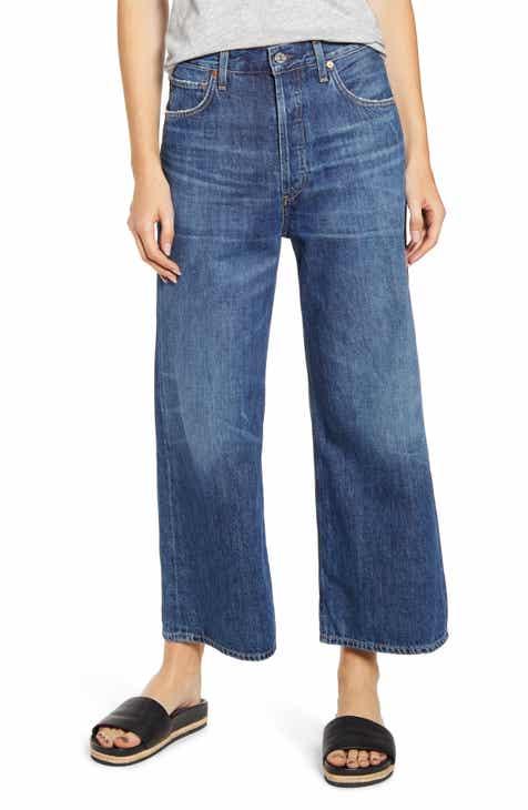 13b5a964 Citizens of Humanity Sacha High Waist Crop Wide Leg Jeans (Blue Rose)