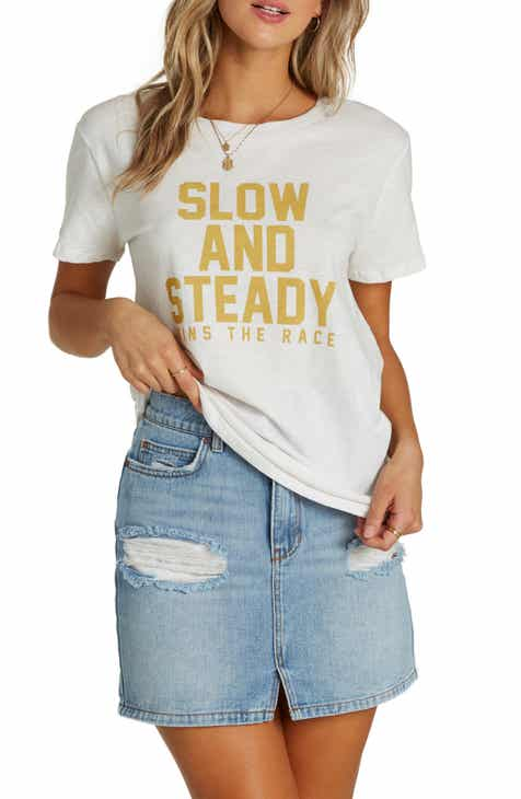 5724fbbd Billabong Slow and Steady Graphic Tee