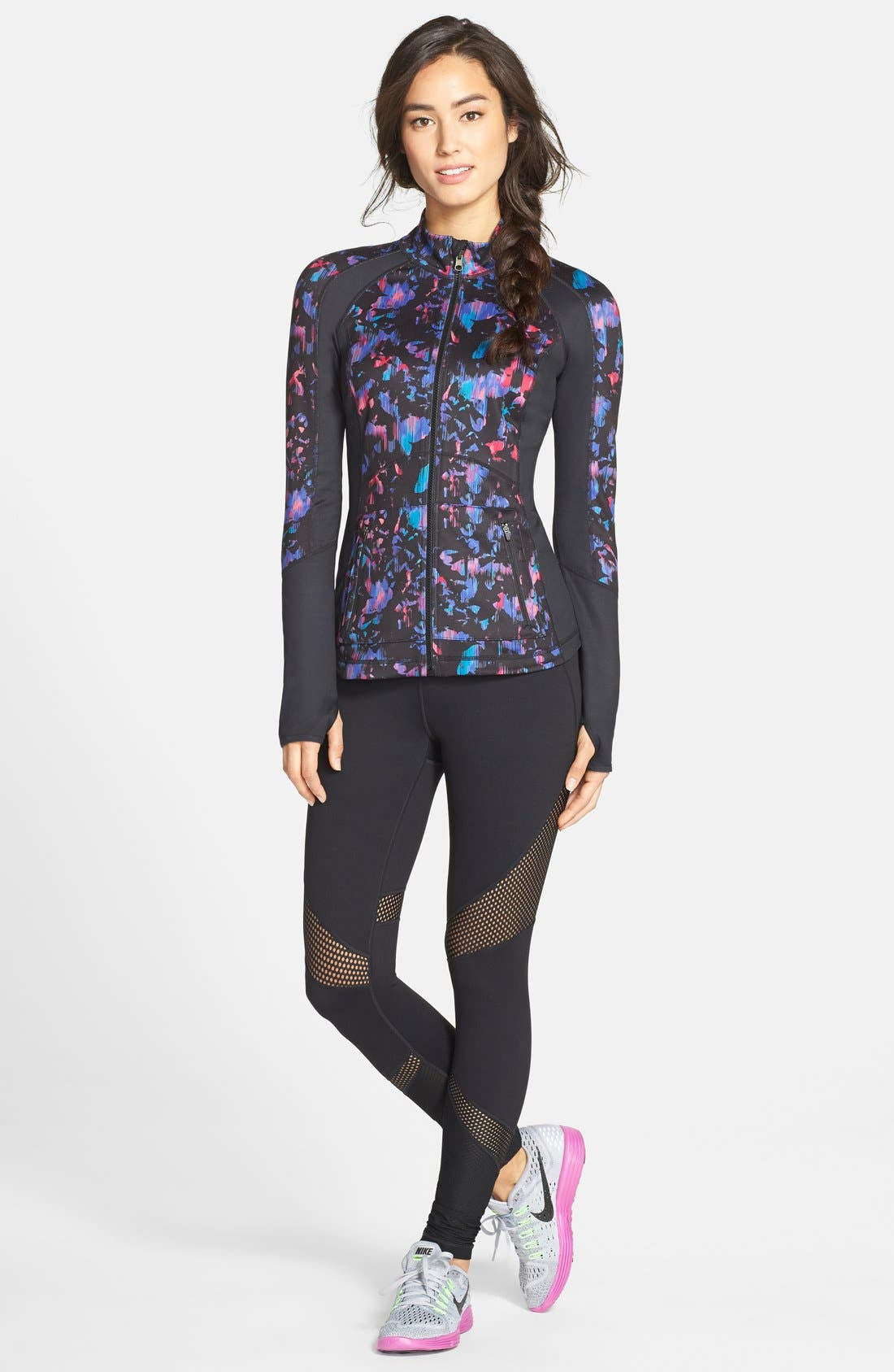 'Live In - Out of Bounds' Slim Fit Leggings,                             Alternate thumbnail 3, color,                             Black