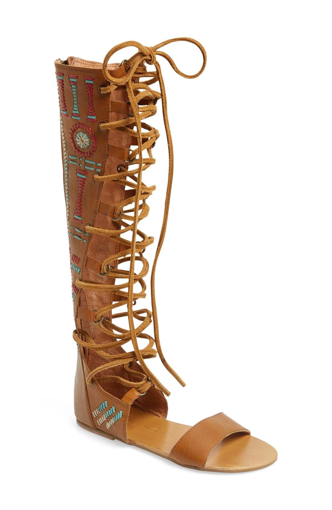 Main Image - Free People 'Bellflower' Tall Gladiator Sandal (Women)