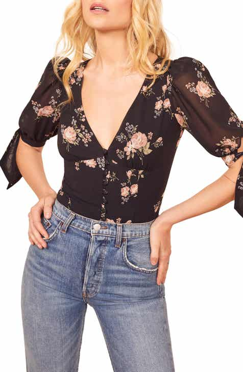 Reformation Ani Floral Top