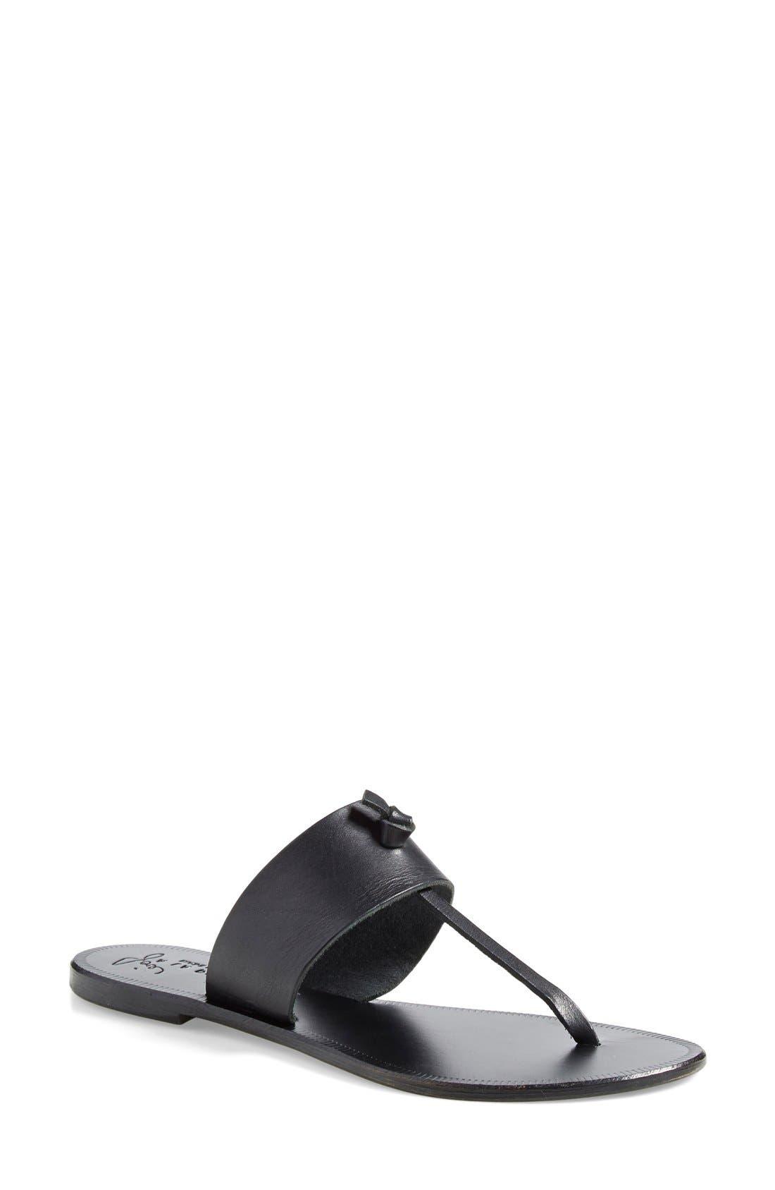 a la Plage 'Nice' Flip Flop,                         Main,                         color, Black/ Black
