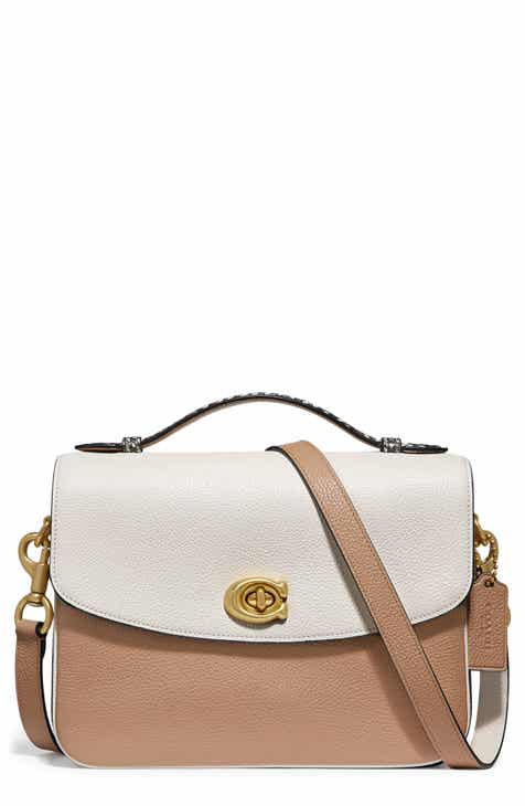 1088405cff COACH Cassie Leather & Genuine Python Crossbody Bag