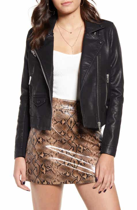 BLANKNYC Faux Leather Moto Jacket Special Offer