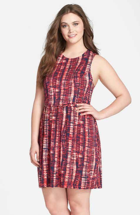 Tart 'Lorenza' Print Jersey Fit & Flare Dress (Plus Size) by TART