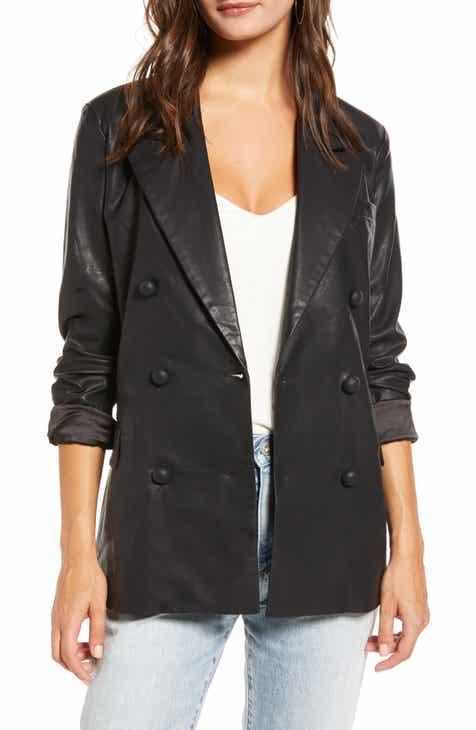 Sale BLANKNYC Faux Leather Blazer
