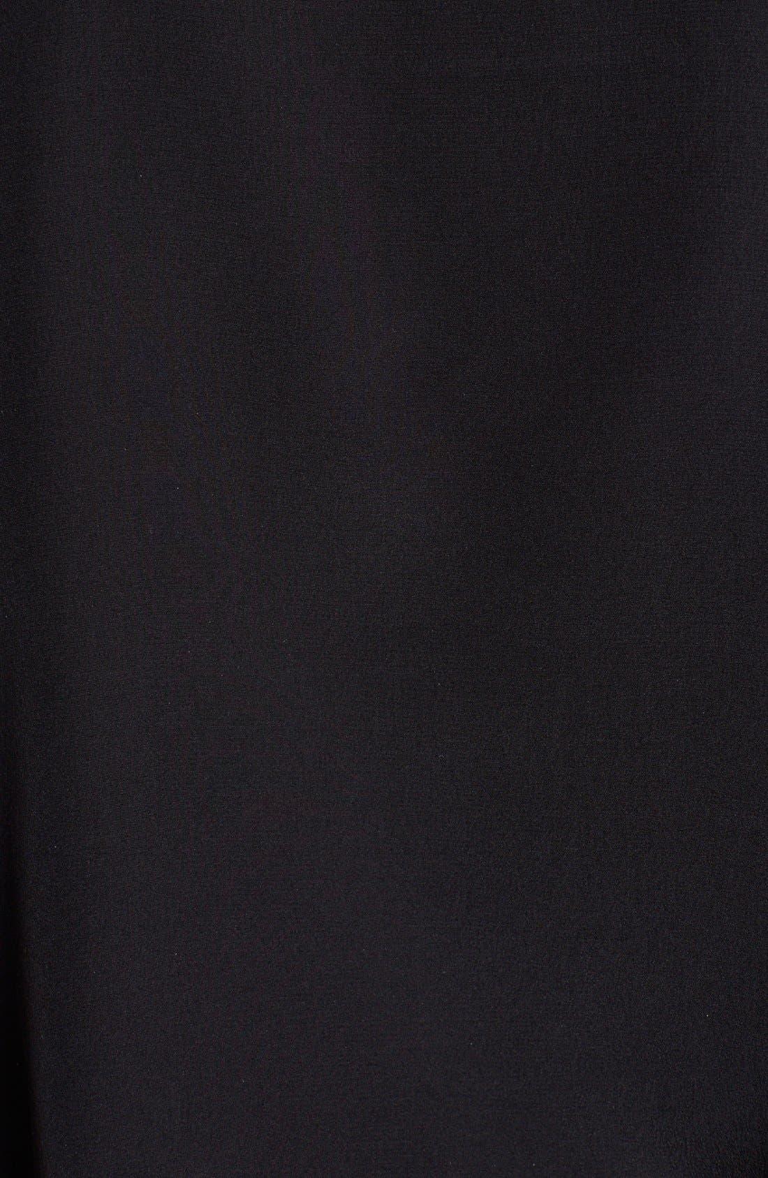 Alternate Image 3  - Emilio Pucci Leather Trim Lace-Up Neck Silk Shirt