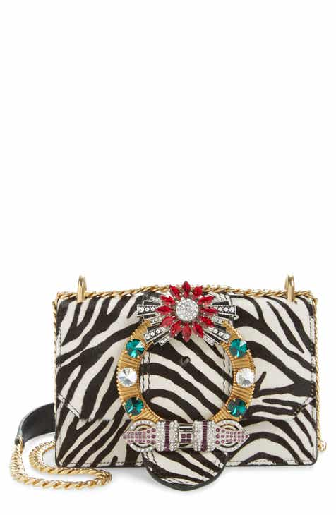 157b31f80562d Miu Miu Zebra Print Genuine Calf Hair Shoulder Bag