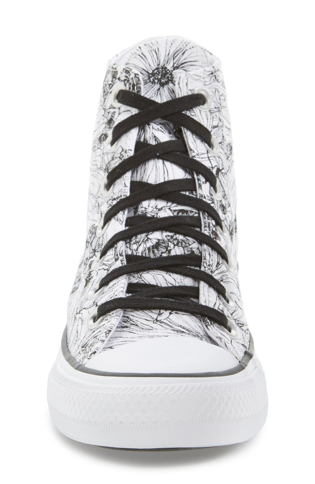 Alternate Image 3  - Converse Chuck Taylor® All Star® Floral Outline High Top Sneaker (Women)