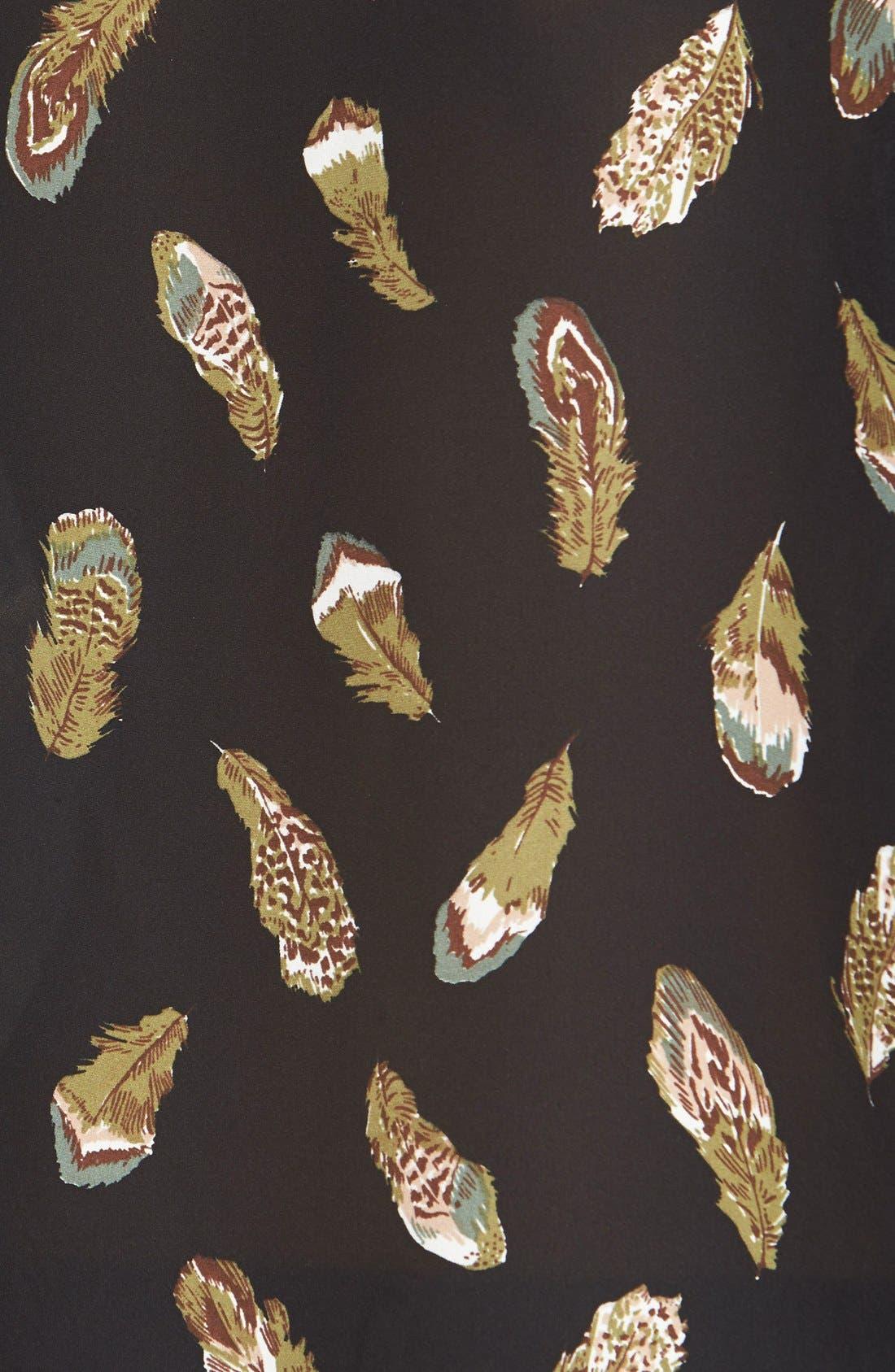 Alternate Image 3  - Joie 'Lamia' Feather Print Silk Top