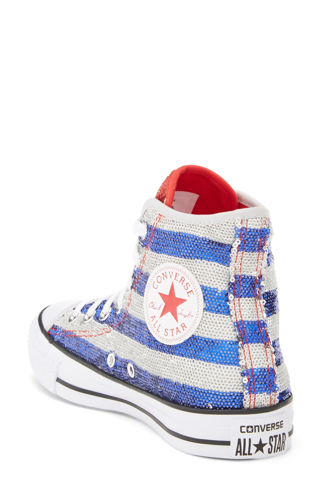 Alternate Image 2  - Converse Chuck Taylor® All Star® Sequin Flag High Top Sneaker (Women)