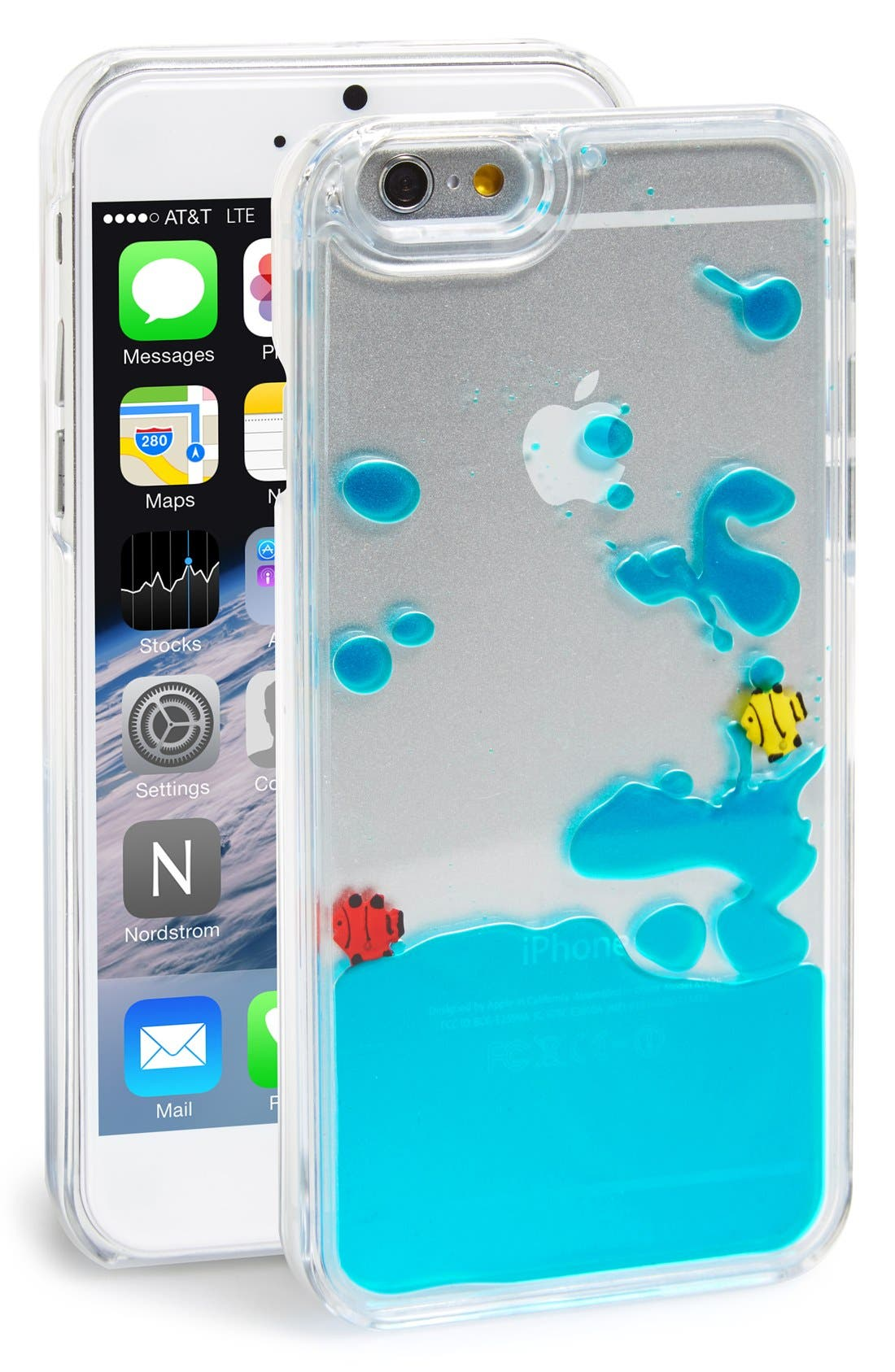 Main Image - Skinnydip 'Blue Fish' Liquid iPhone 6 & 6s Case