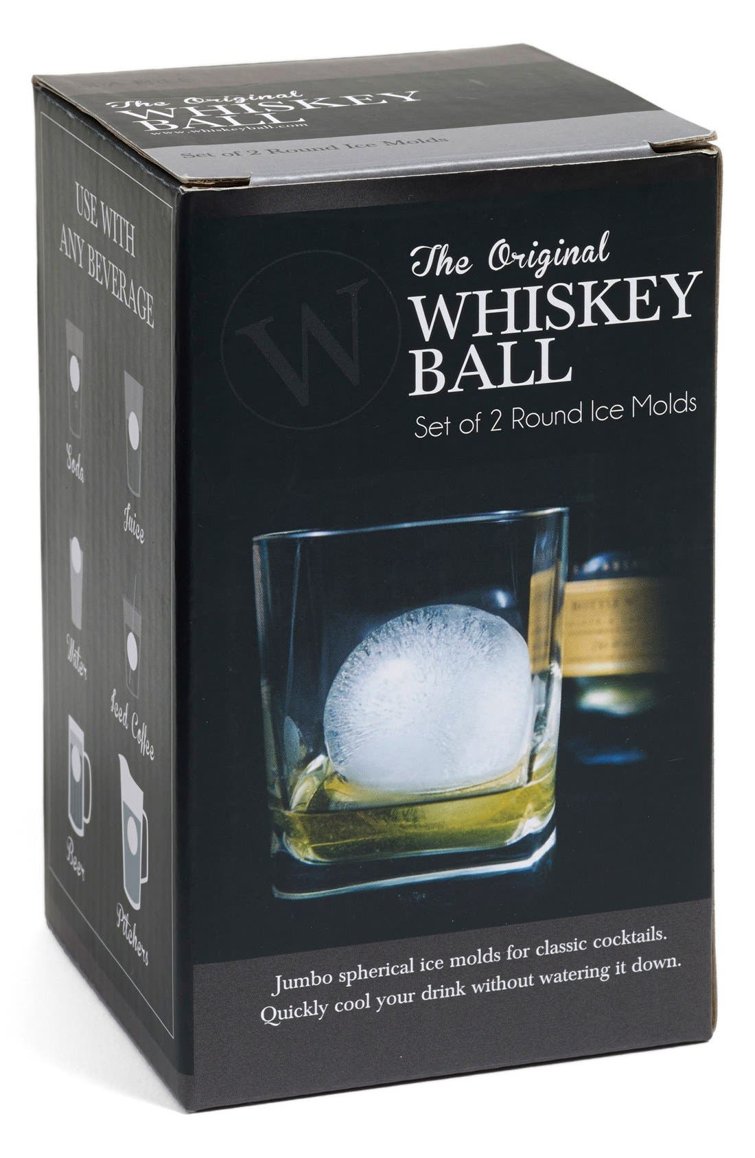 Alternate Image 2  - The Original WHISKEY BALL Ice Mold (2-Pack)