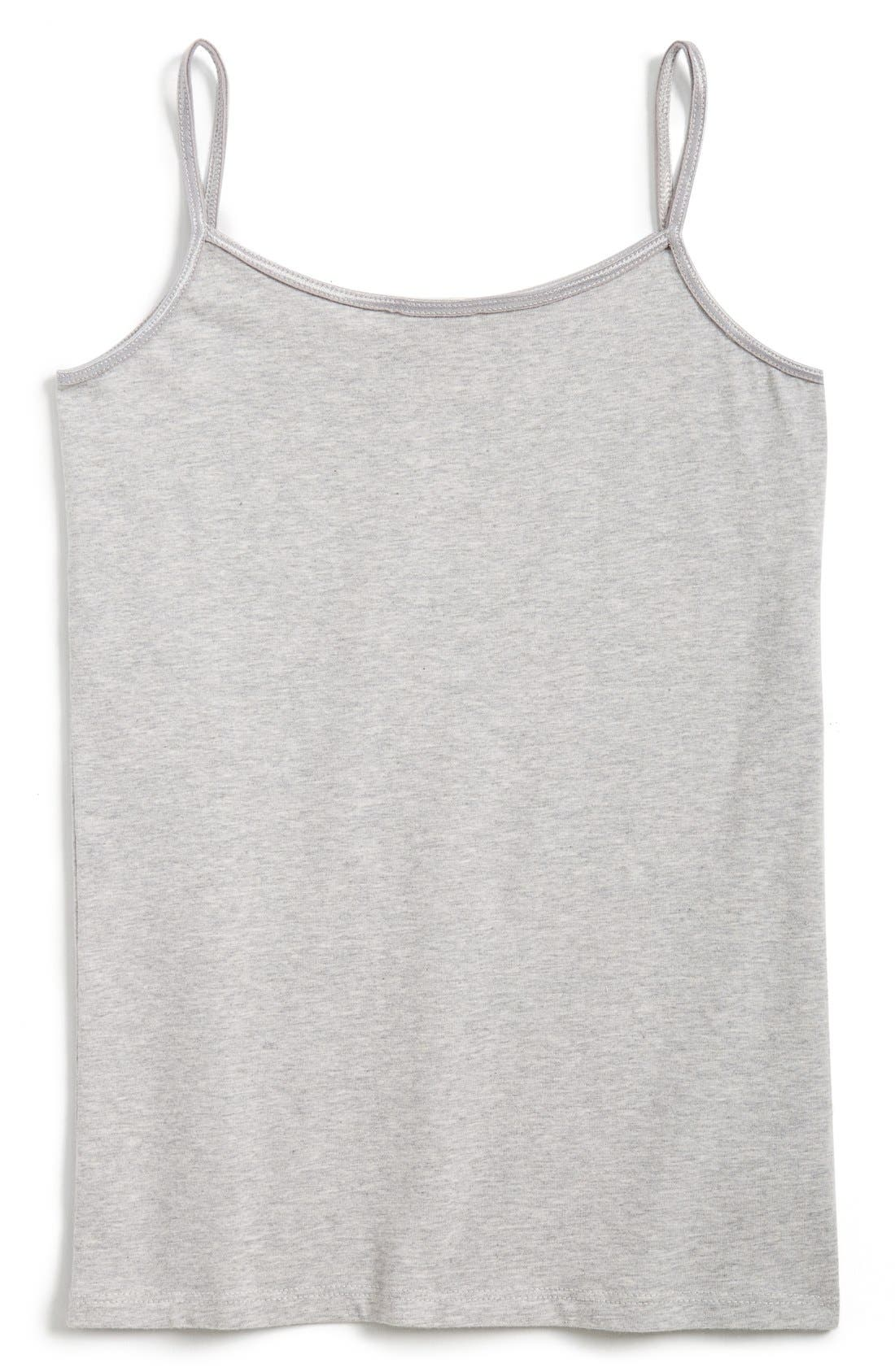 Heathered Long Camisole,                         Main,                         color, Grey Ash Heather