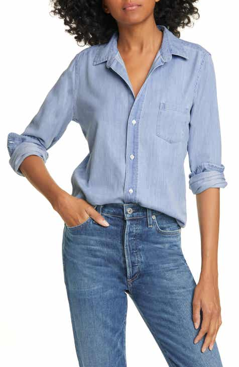 Frank & Eileen Long Sleeve Chambray Button-Up Shirt