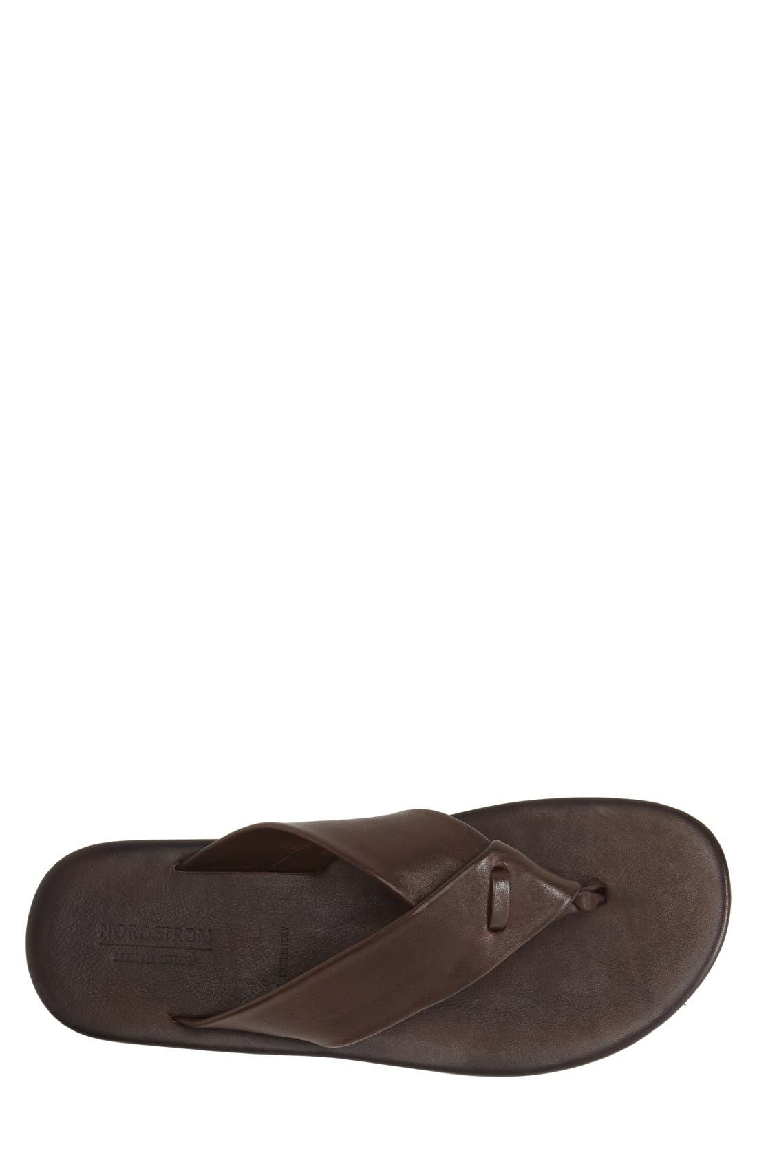 'Breeze' Flip Flop,                             Alternate thumbnail 3, color,                             Brown