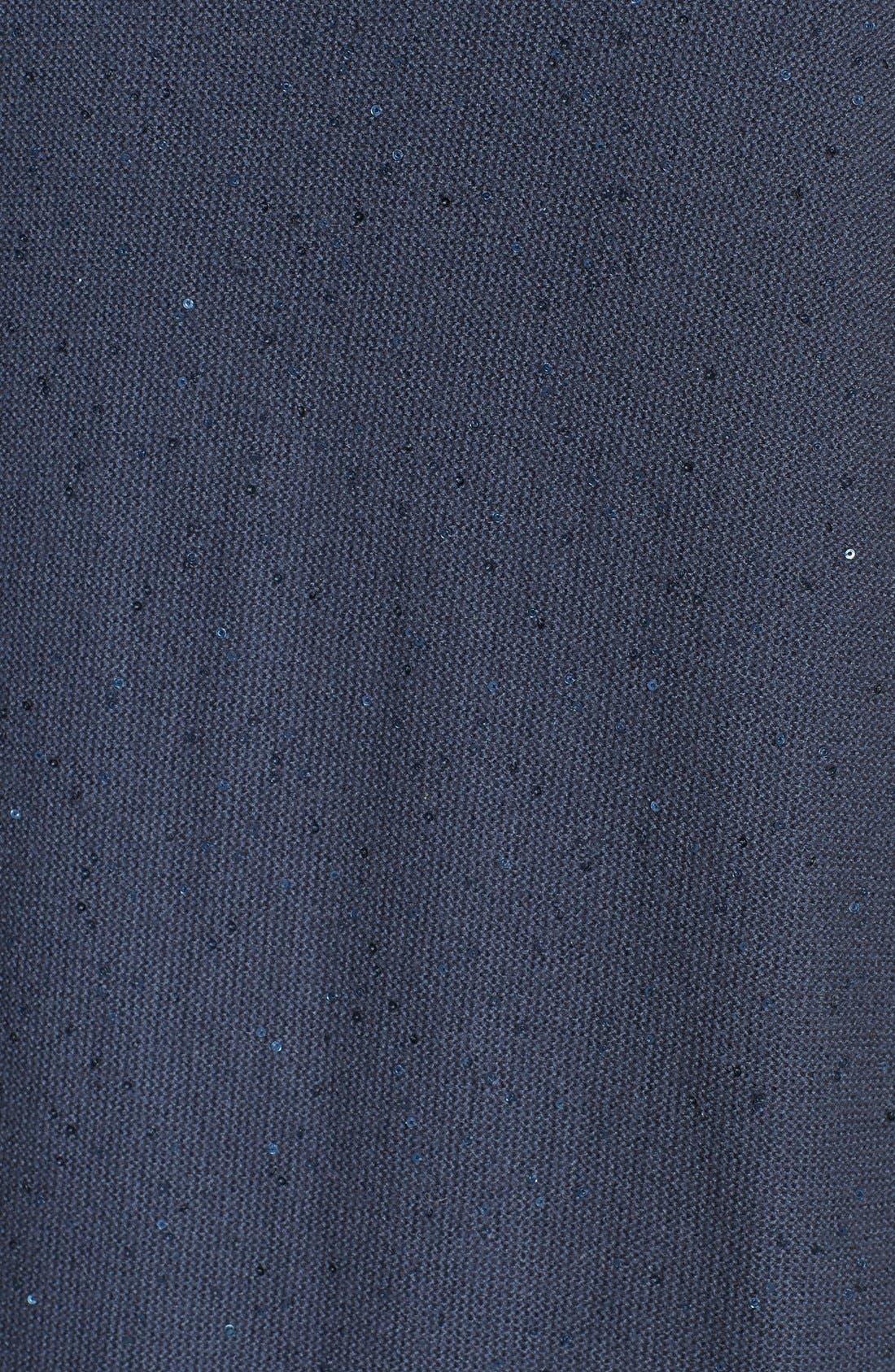 Alternate Image 3  - Fabiana Filippi Embellished Knit Overlay Satin Dress
