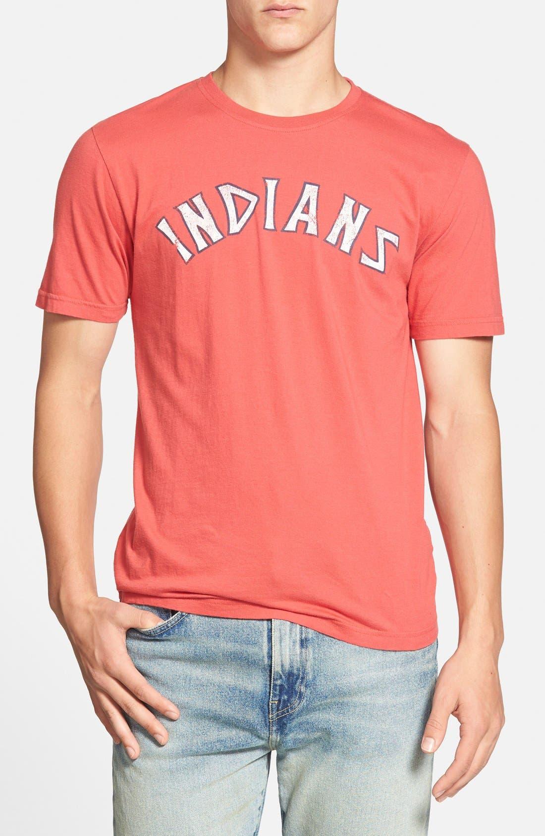 'Cleveland Indians - Brass Tacks' T-Shirt,                             Main thumbnail 1, color,                             Red
