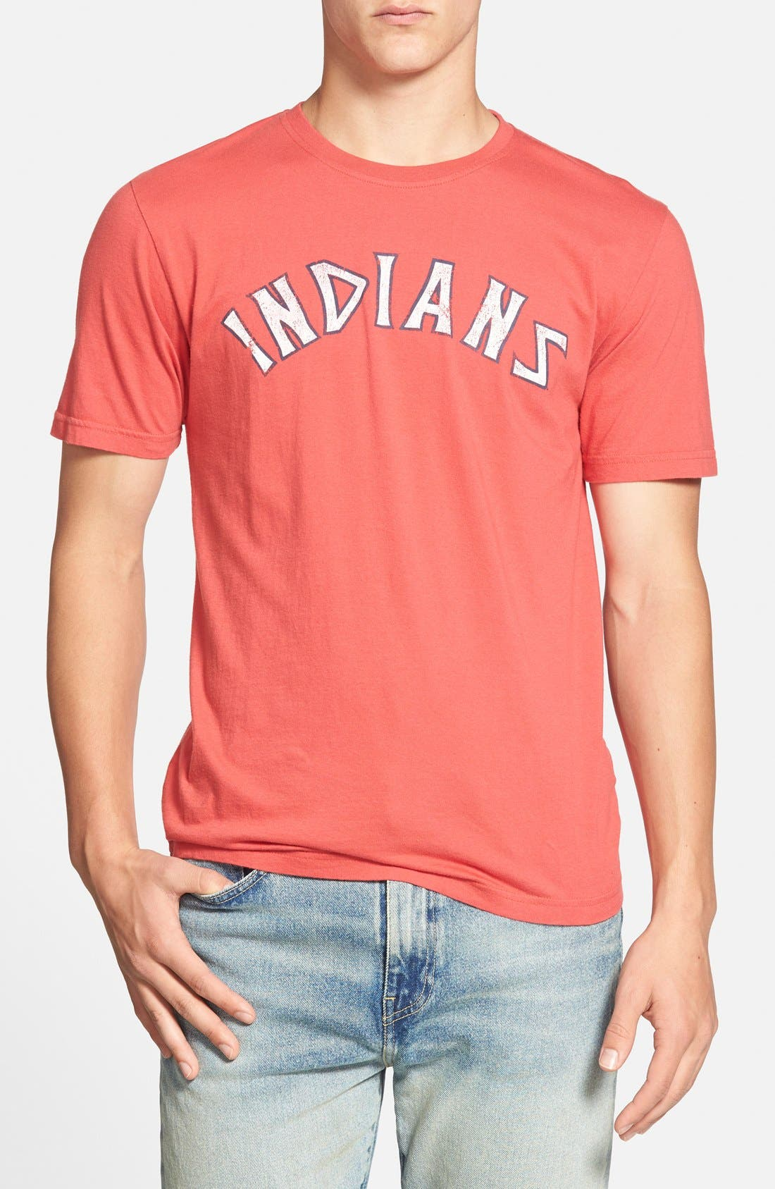 'Cleveland Indians - Brass Tacks' T-Shirt,                         Main,                         color, Red