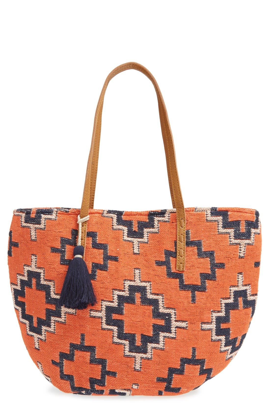 Alternate Image 1 Selected - Sole Society Geometric Canvas Tote