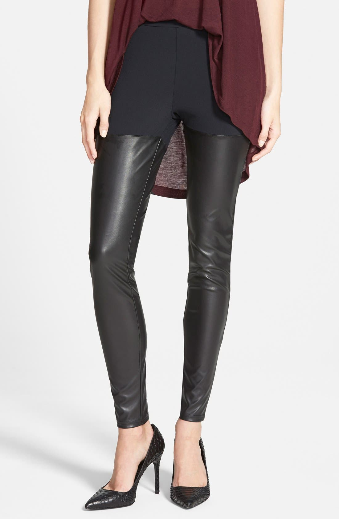 Alternate Image 1 Selected - Leith Faux Leather Leggings