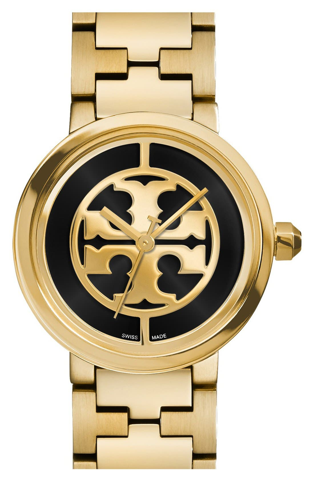 Main Image - Tory Burch 'Reva' Logo Dial Bracelet Watch, 28mm