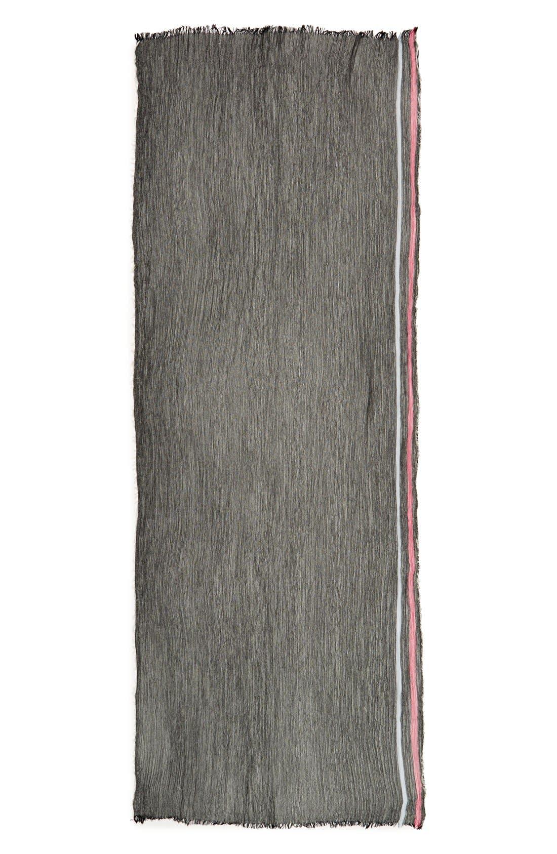 Alternate Image 2  - Renee's Accessories Stripe Crinkle Scarf