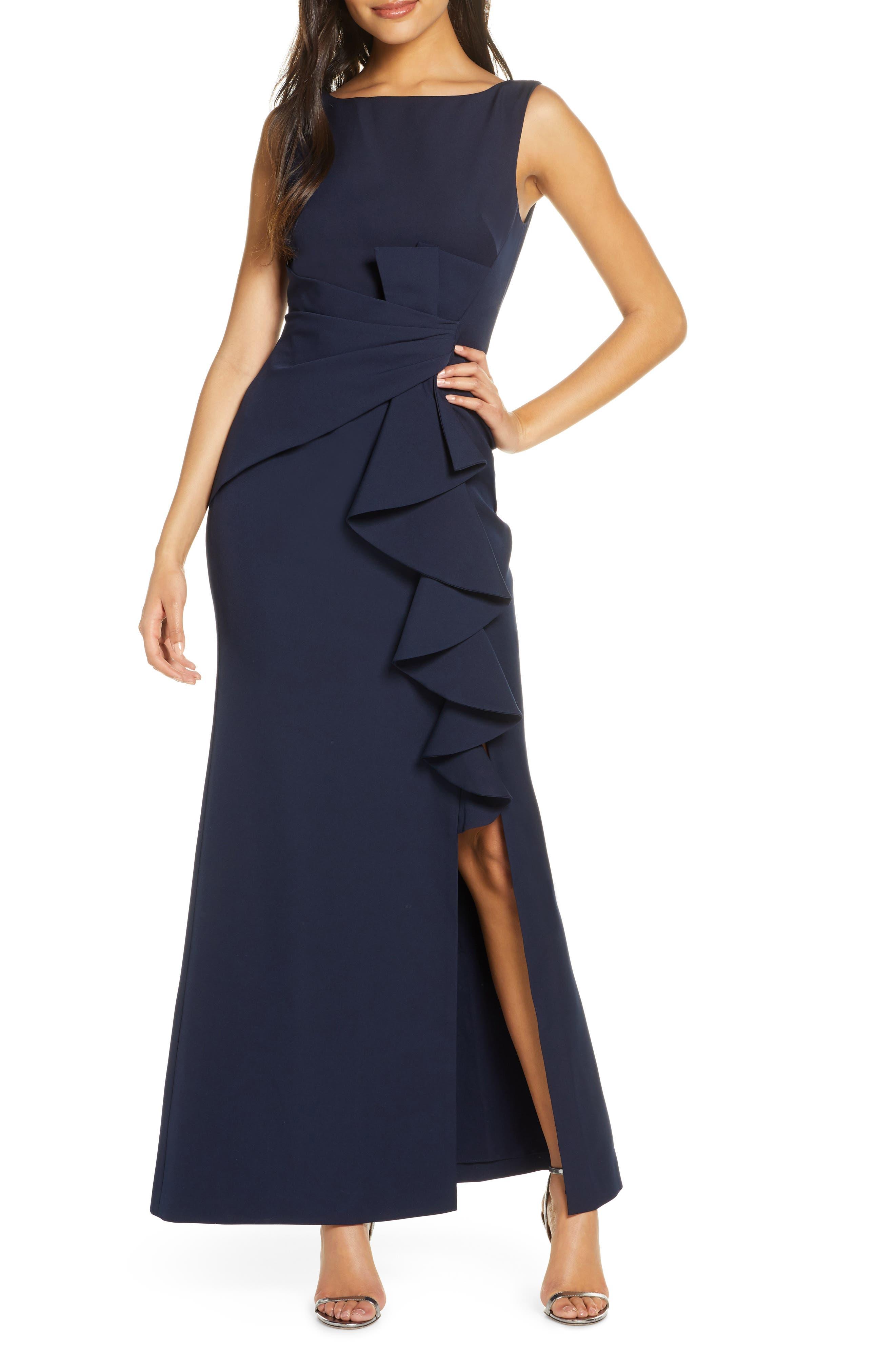 Next Women`s Dress Blue Twist Front Glitter Size 8,10,12 Petite,22