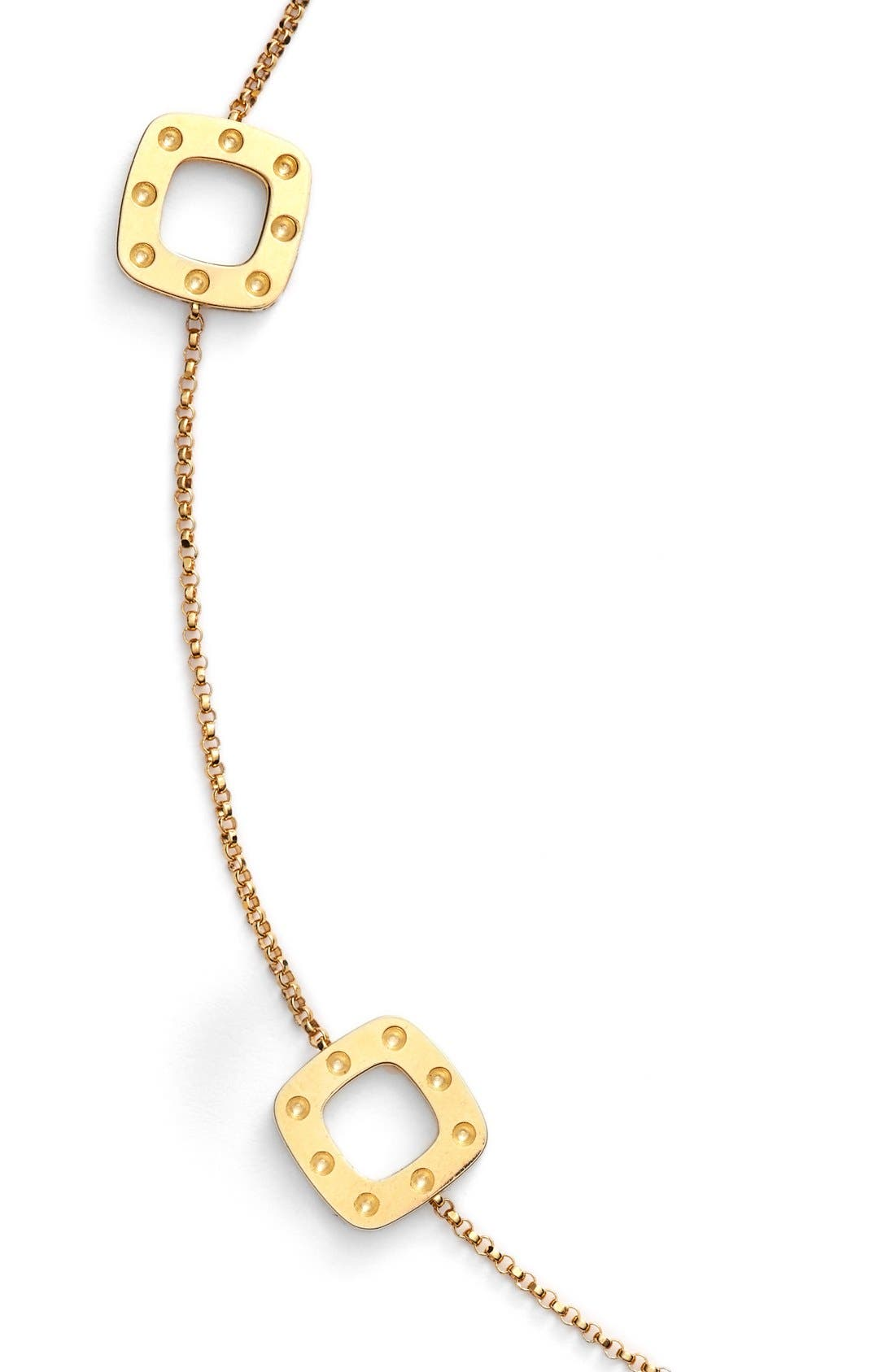 'Pois Moi' Long Station Necklace,                             Alternate thumbnail 2, color,                             Yellow Gold