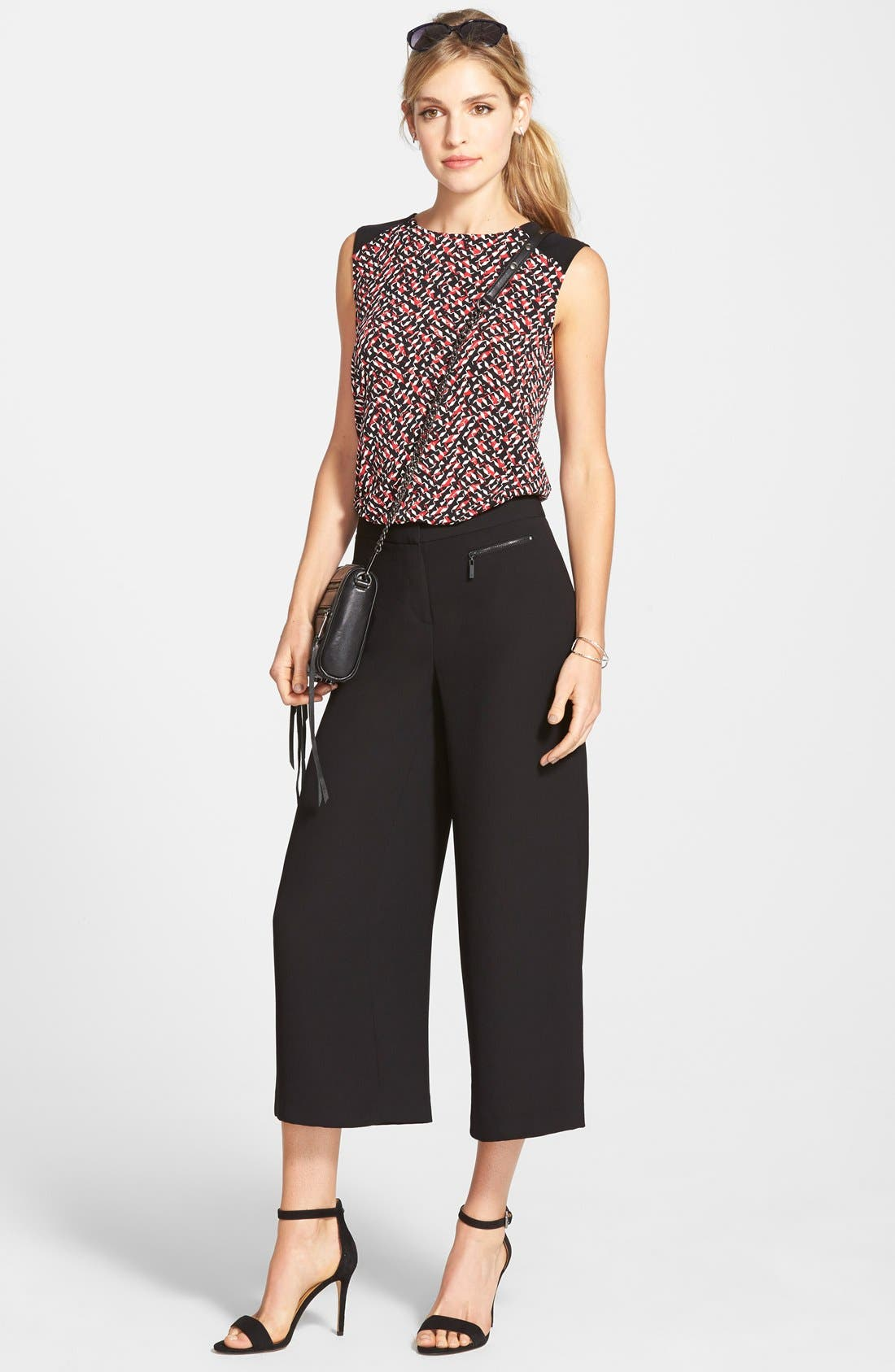 Alternate Image 2  - Vince Camuto Zip Pocket Culottes (Nordstrom Exclusive)