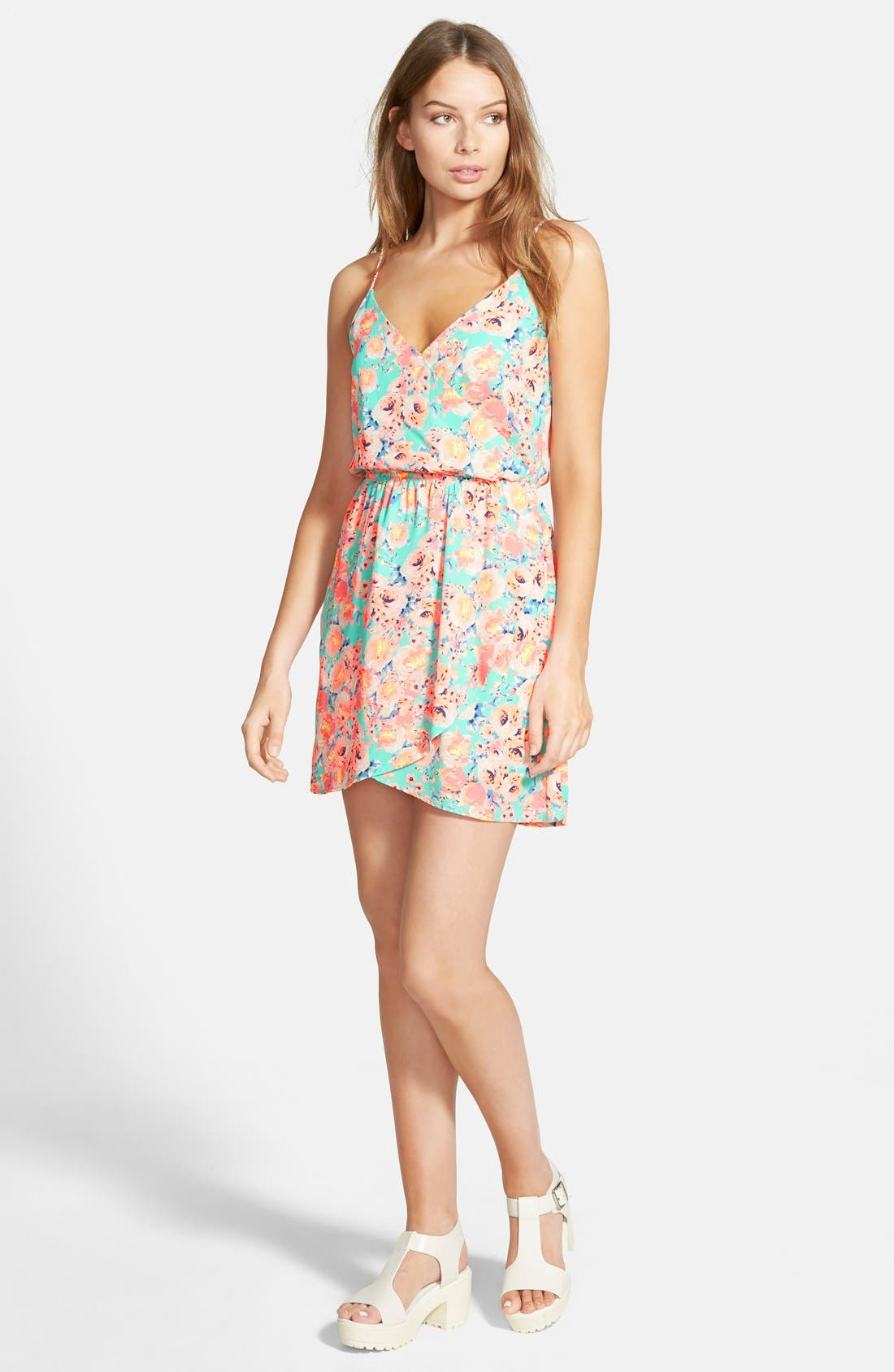 Alternate Image 1 Selected - Lush 'Katherine' Tulip Hem Skater Dress