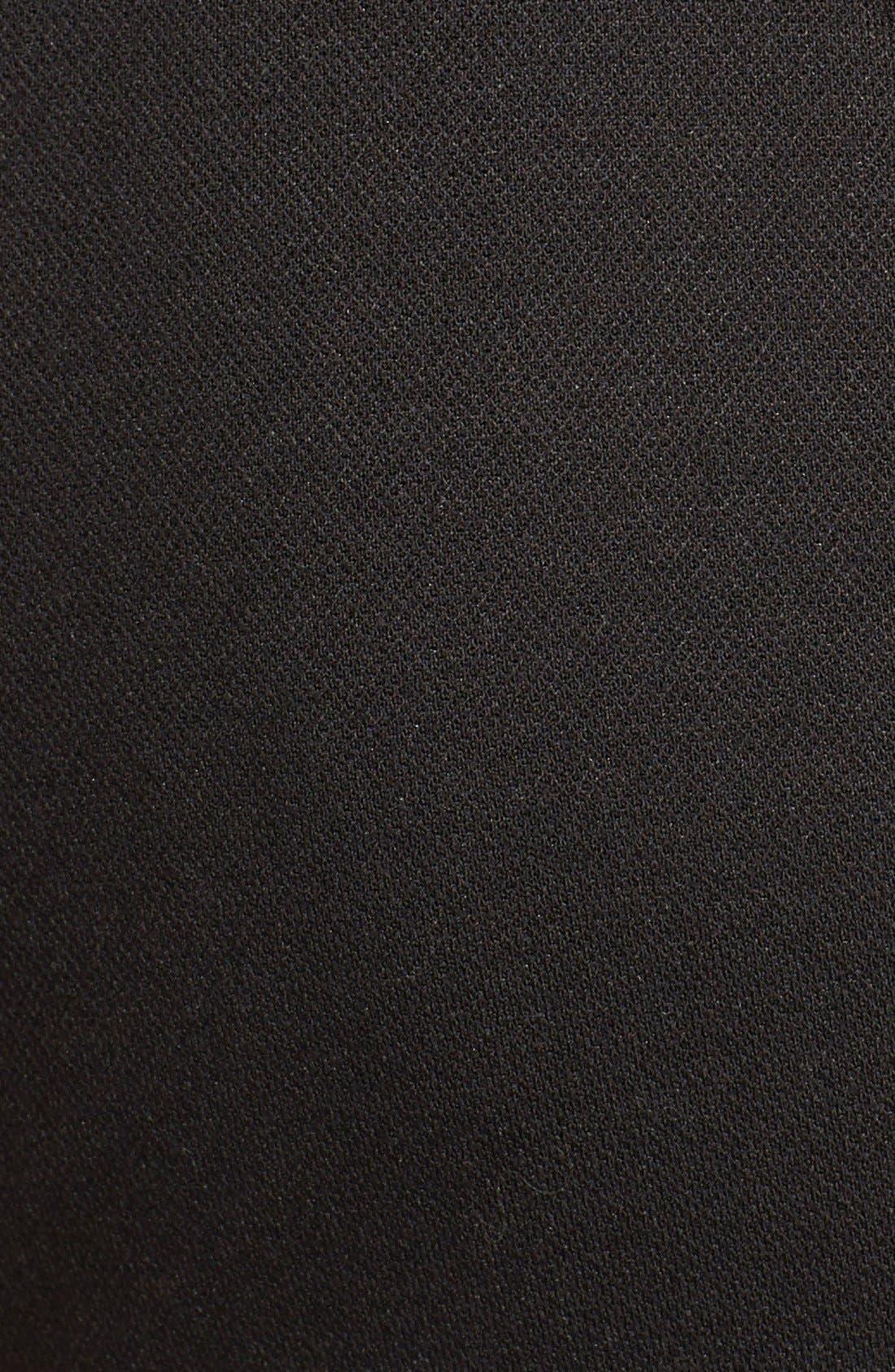 Keyhole Ponte Knit Maternity Dress,                             Alternate thumbnail 2, color,                             Black