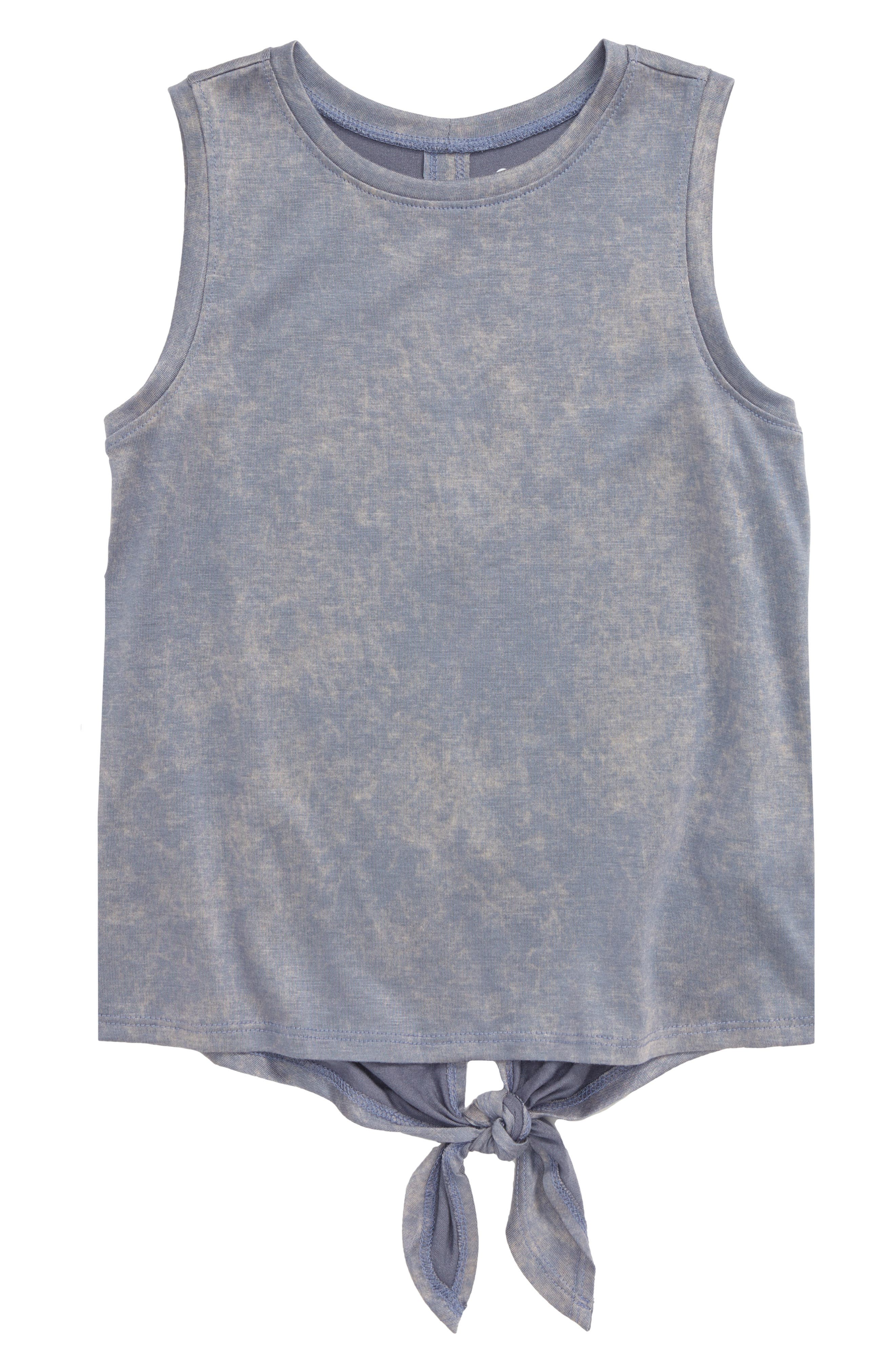 Zella Kids Girls Mesh Back High Low Sleeveless Tank Top Shirt