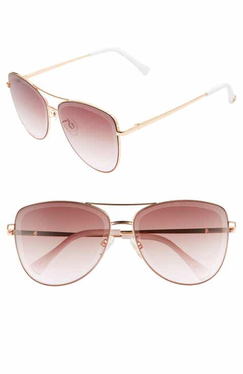 Sam Edelman 53mm Aviator Sunglasses