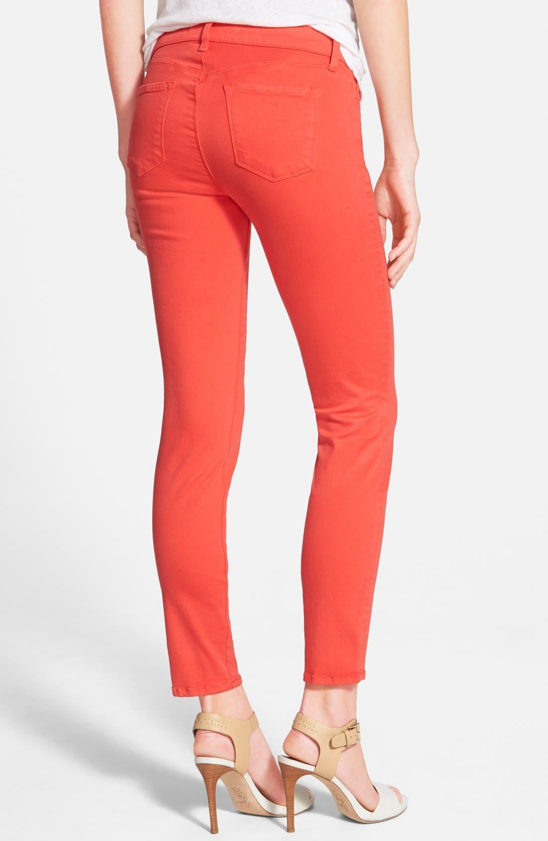 Alternate Image 2  - J Brand Low Rise Ankle Skinny Jeans