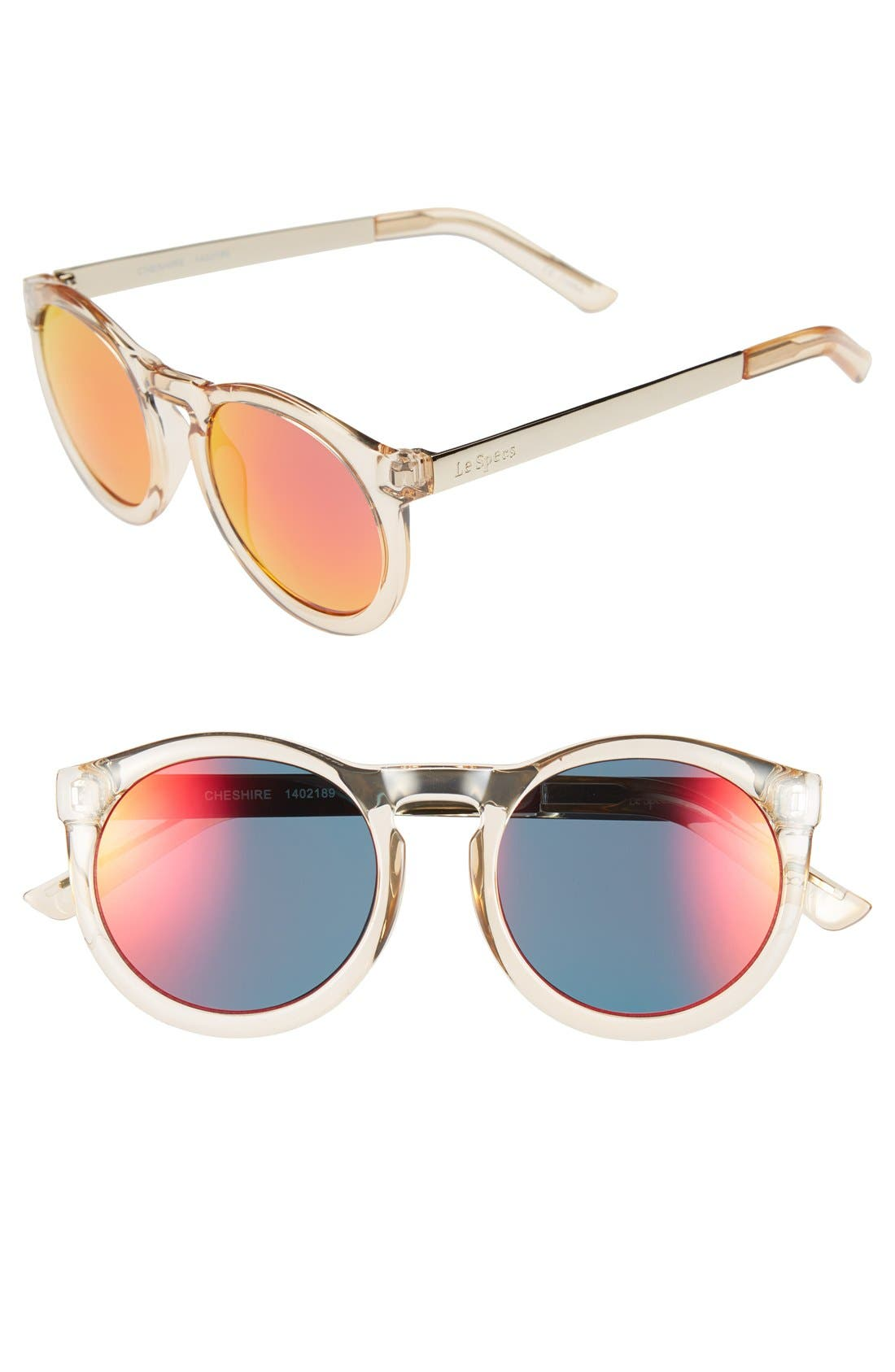 Alternate Image 1 Selected - Le Specs 'Cheshire' 49mm Round Retro Sunglasses