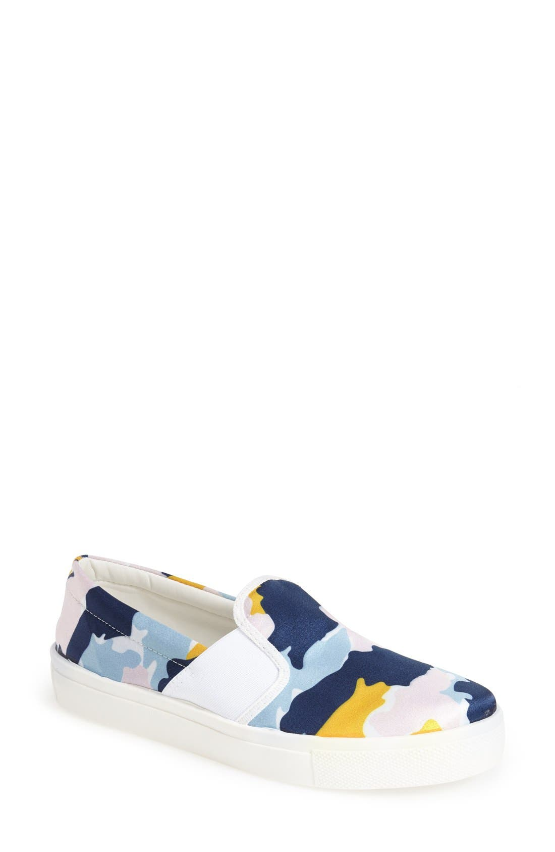 Main Image - Topshop 'Tiga - Smudge Print' Slip-On Skater Shoe (Women)