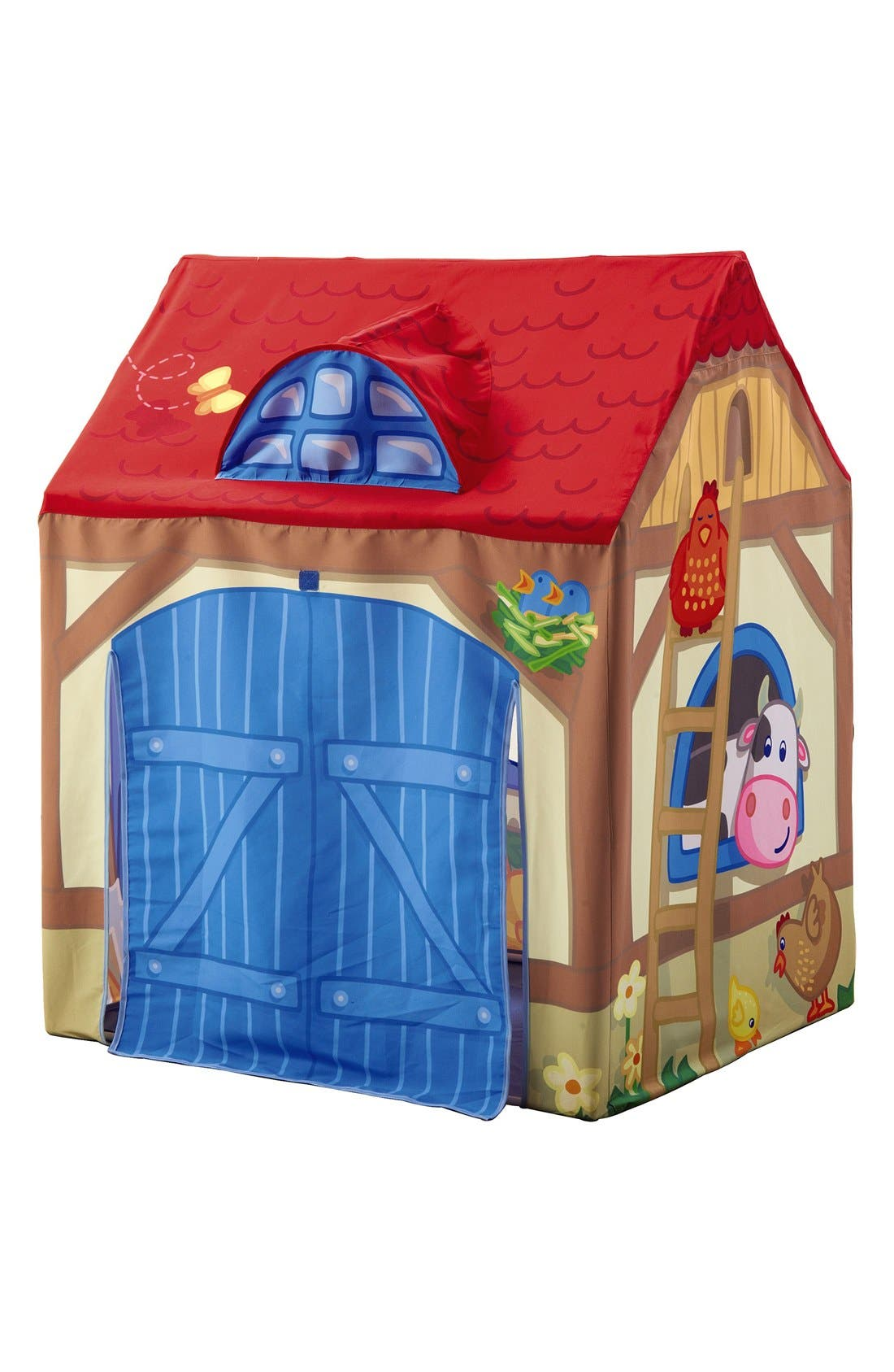 Farm Play Tent,                             Alternate thumbnail 5, color,                             Red