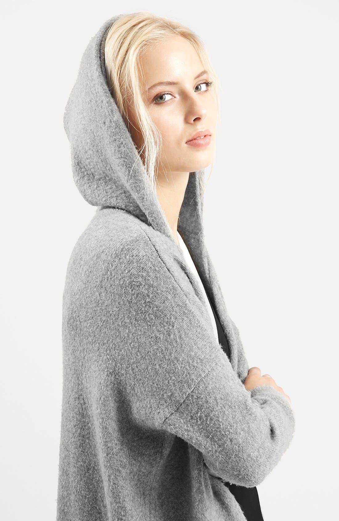 Alternate Image 5  - Topshop Open Front Hooded Cardigan