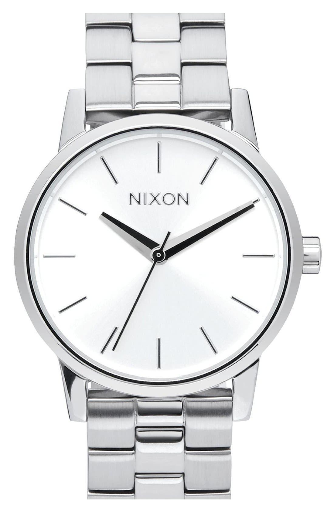 'Kensington' Bracelet Watch, 32mm,                             Main thumbnail 1, color,                             Silver