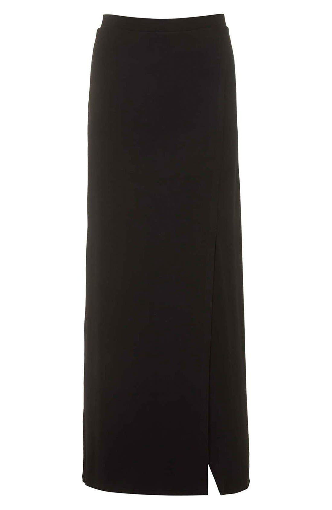 Alternate Image 3  - Topshop Slit Maxi Skirt