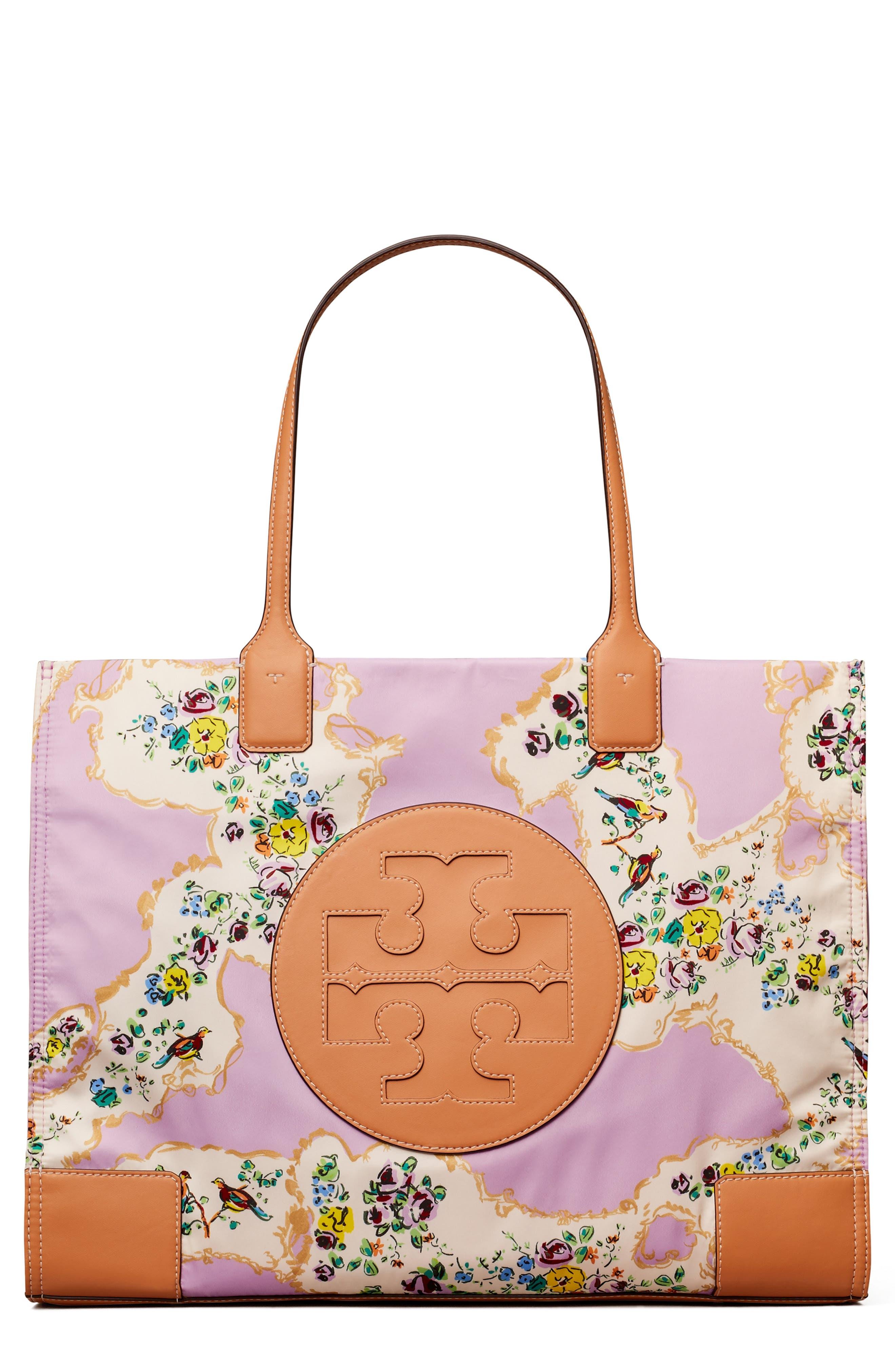 Fashion Womens Ladies Floral Print Nylon Tote Handbag Shopper Bag Summer Beach B