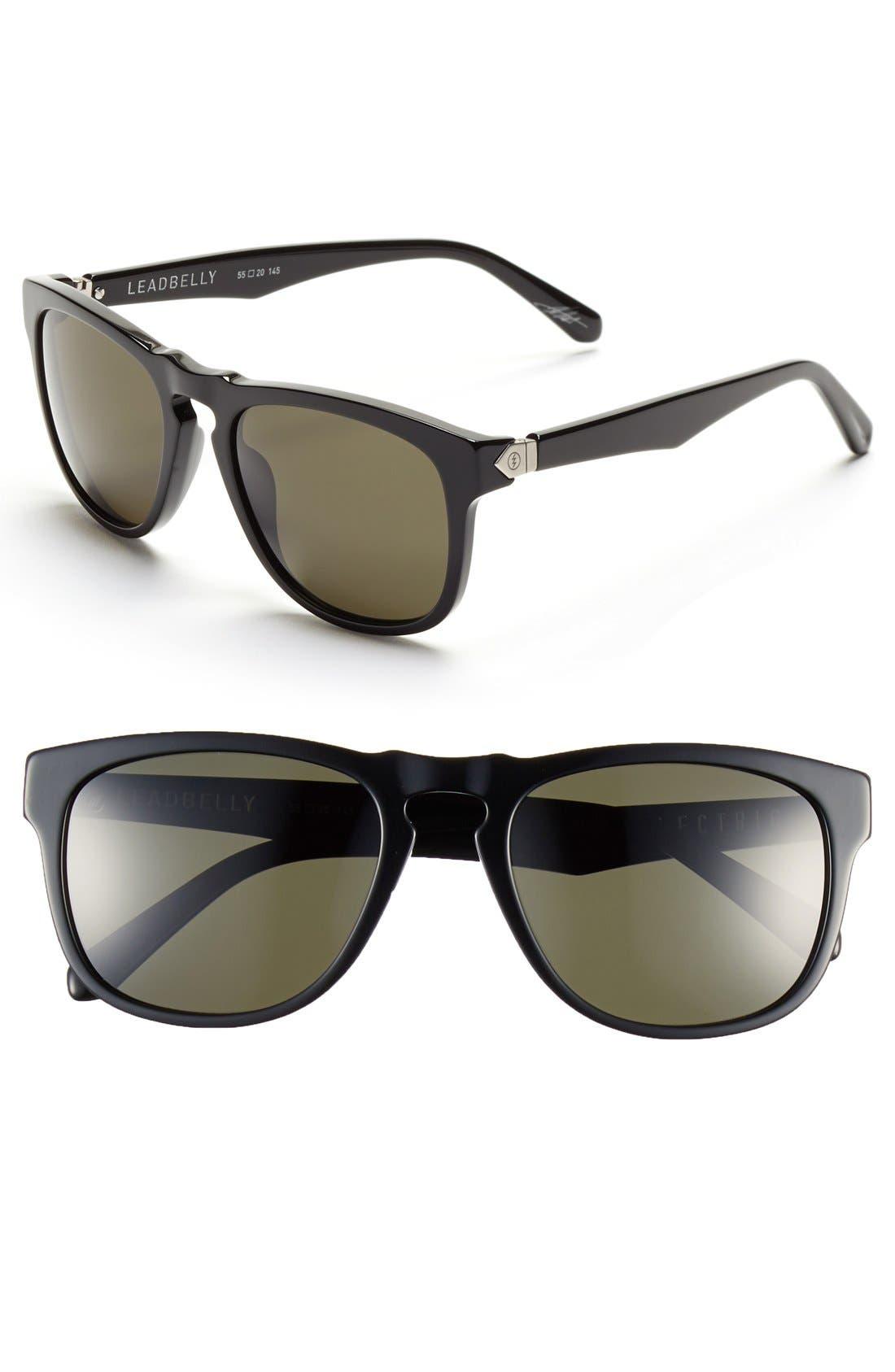 'Leadbelly' 55mm Sunglasses,                             Main thumbnail 1, color,                             Gloss Black/ Grey