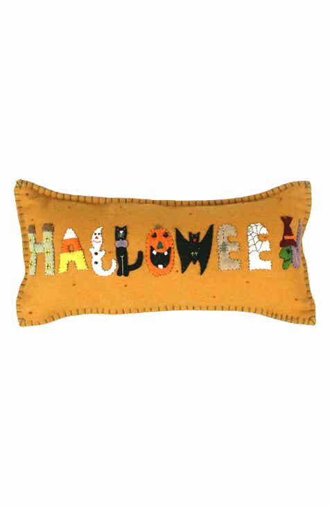 new world arts halloween accent pillow