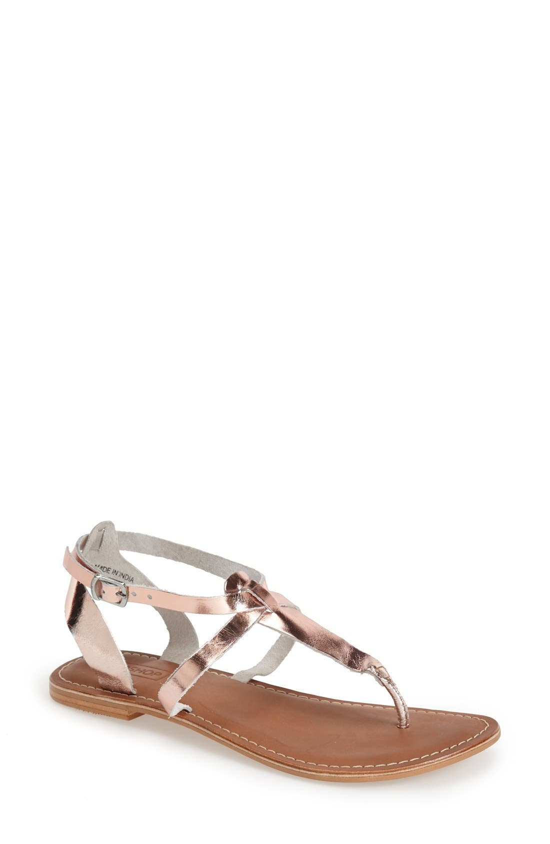 Alternate Image 1 Selected - Topshop 'Horizon' Leather Sandal